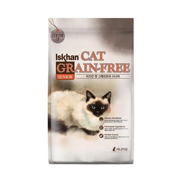 이즈칸 캣 그레인프리 시니어 2.5kg 고양이 사료