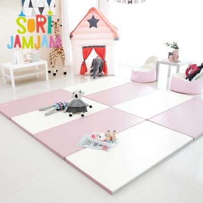 하비비 소리잼잼 4단 폴더매트 핑크&아이보리 (1세트)