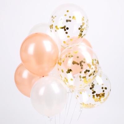 엘레강스 컨페티 풍선세트(10개입)-화이트&핑크