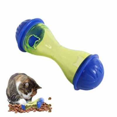 고양이 먹이장난감 덤벨 무빙 IQ 스낵볼(블루 1P)