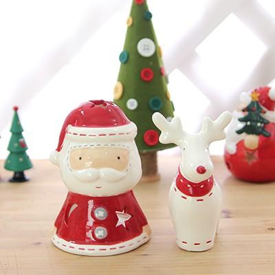 메리 산타+루돌프 촛대 2p set