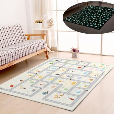 굿나잇 놀이방 야광매트 소형 100x150 알파벳도로