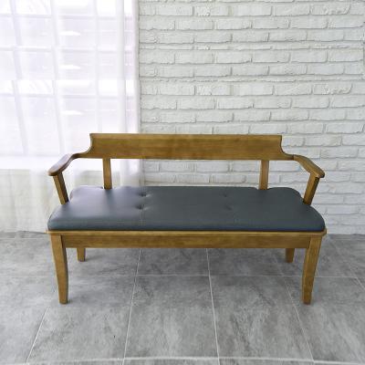 도밍 고무나무 원목 3인용 벤치의자