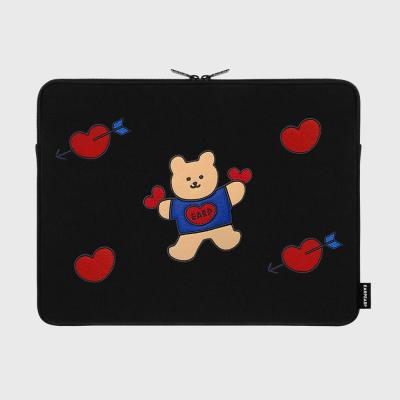[11/27 예약발송]Bear heart-15inch notebook pouch