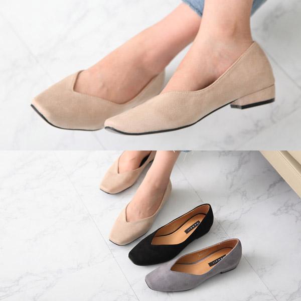 [애슬릿]빅사이즈 스웨이드 여성 플랫 슈즈 2.5cm