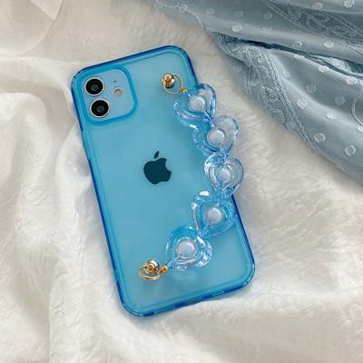 블루 진주 스트랩케이스(아이폰11)