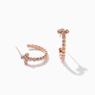 제이로렌 M03583 큐빅 미니 십자가 C자 귀걸이