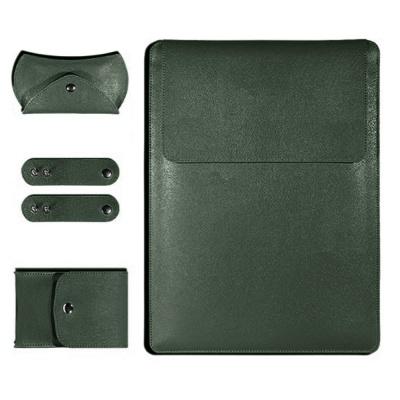 노트북 가죽 파우치(그린) (27x37cm)