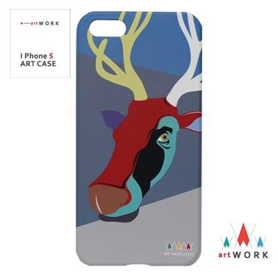 I Phone5 Red-cow 아트 핸드폰 케이스