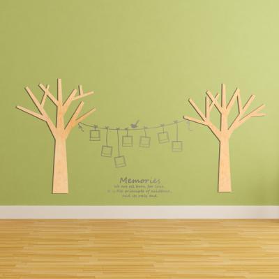 [우드스티커] 작은나무 (반제품)