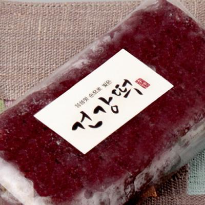 손글씨 건강떡 직사각 라벨 (10개)