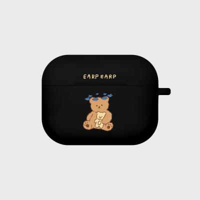 blue bird bear-black(Air pods pro case)