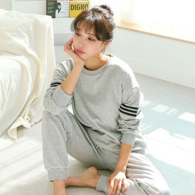 메리핀 무지 삼선 트레이닝 시보리 잠옷세트 3종