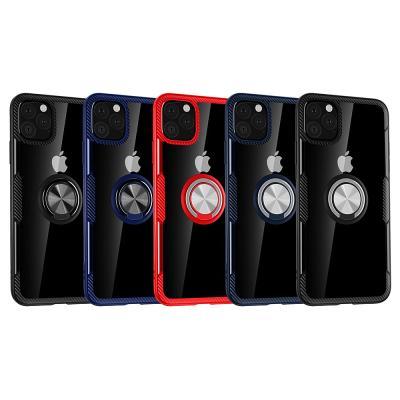 P166 아이폰11프로 마그네틱 링 범퍼 하드 케이스