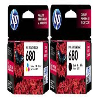 F6V27AA + F6V26AA NO680 검정+컬러 Original Ink Cartridge