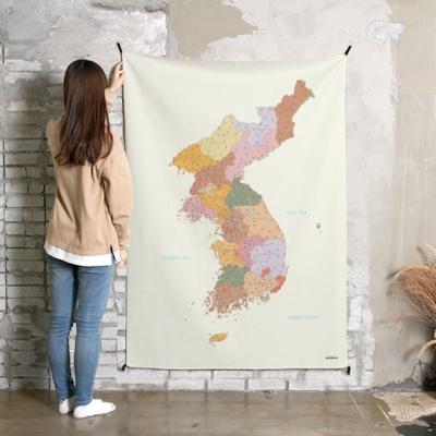 초대형 한국지도 태피스트리 / 패브릭 포스터