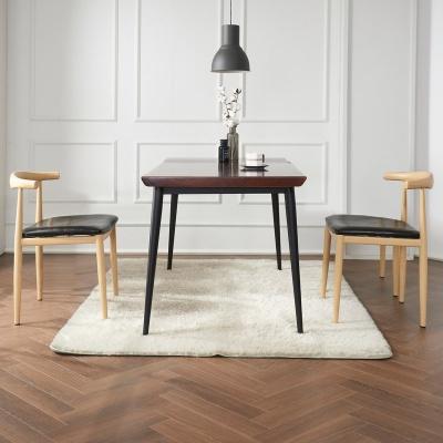 브리엔 원목 철제 식탁 세트B 1400 + 의자 4개포함
