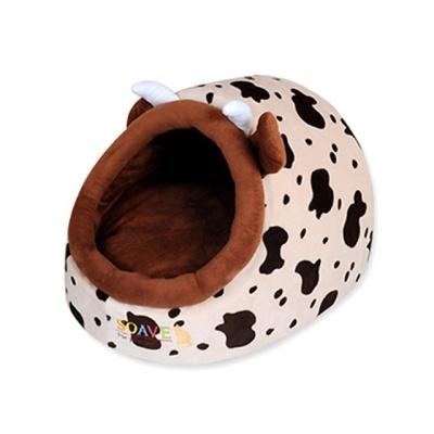 애니멀 젖소 동굴 하우스 애견용품 강아지 고양이