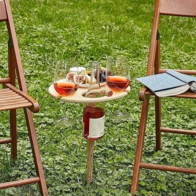 캠핑용 피크닉 와인홀더 접이식 테이블 트레이 차박