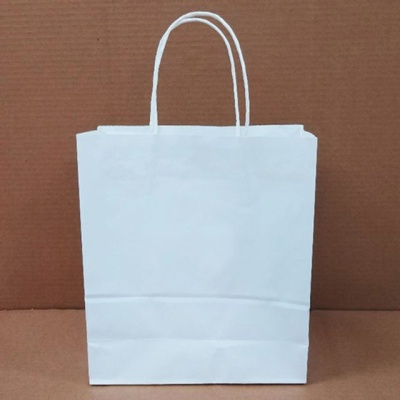 고급 선물 네모 제작 하얀 쇼핑백 종이백 대 50매