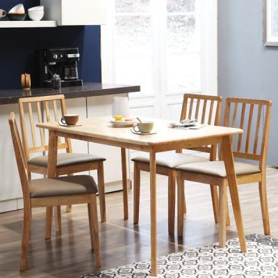 [리비니아]캔버로체4인용원목식탁세트(의자형)2colors