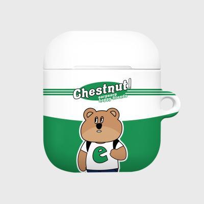 Hello chestnut-white/green(Hard air pods)
