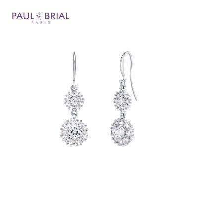 폴브리알 PPBE0057 크리스탈 더블 귀걸이