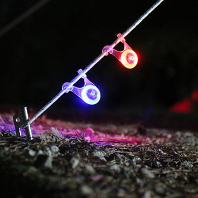 캠핑 LED 스트링 안전 가드 텐트 자전거