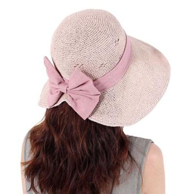 인기 와이어 모자 여자 이쁜 벙거지 왕골 버킷햇 핑크