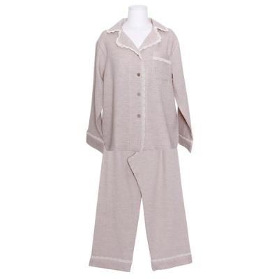 [쿠비카]우드버튼 이중거즈 투피스 여성잠옷 W831