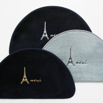 바이빔에펠탑 자수 반달 발매트
