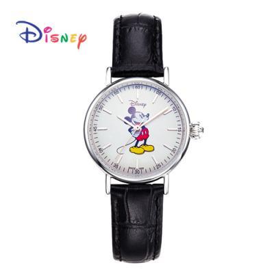 Disney 월트디즈니 미키가죽시계 OW-157BKC