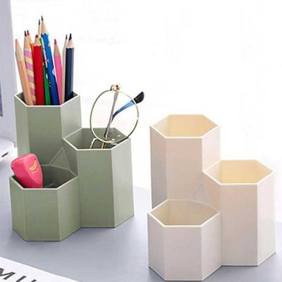 데스크 공간활용 다용도 육각 연필꽃이 6color
