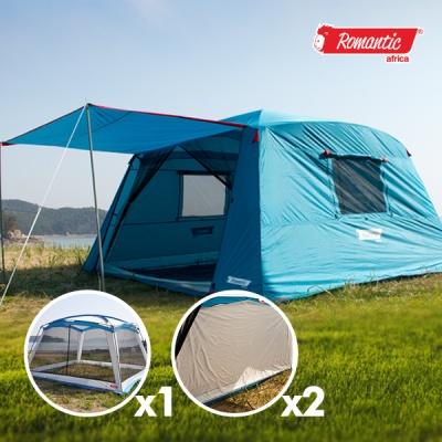로맨틱아프리카 이지 돔타프 텐트 풀세트 구성