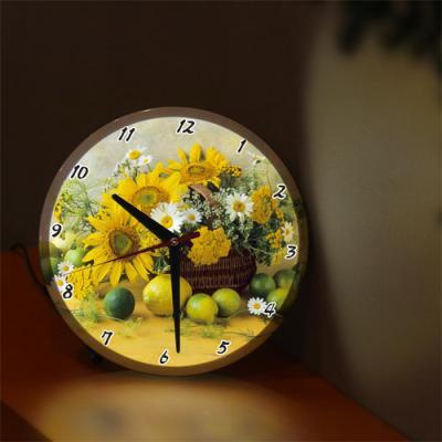nf251-LED시계액자25R_행복해지는해바라기꽃바구니