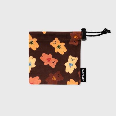 Dot ribbon bear-brown(미니 스트링)