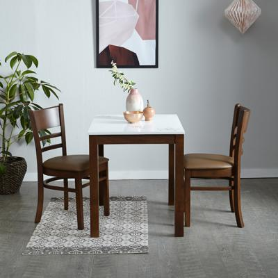 [리비니아]하이그로시 캘빈 모카브라운 2인 식탁세트