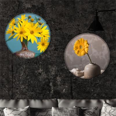 nh726-LED액자45R_꽃병속의노랑꽃