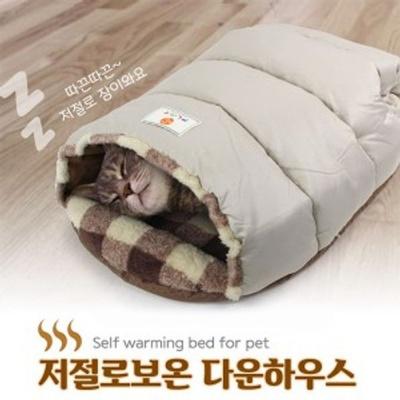 고양이 하우스 보온 숨숨집 겨울 침대 방석 매트