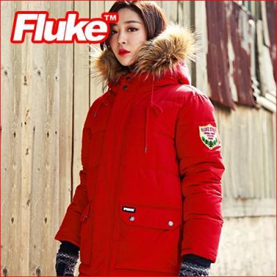 [플루크 패딩] 로체샤르 헤비 라쿤 야상 패딩 점퍼 레드 FPJ1504-RED FLUKE 15FW