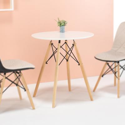 타슈 화이트 원형 테이블 700