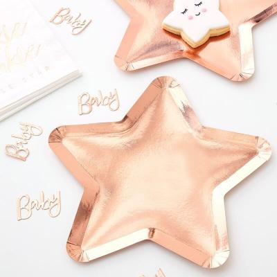 로즈골드 별모양 종이접시 RoseGold Star Paper Plate