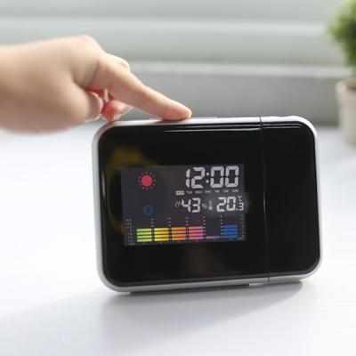 온습도 달력 LCD 인테리어 프로젝터 시계 스마트빔