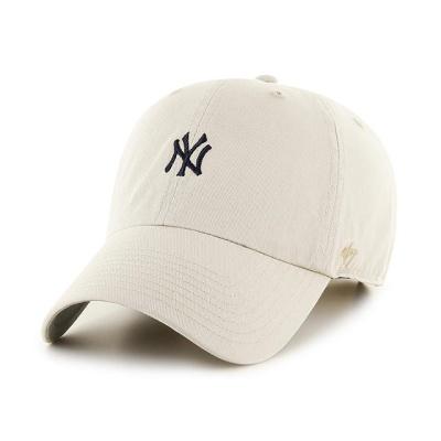 MLB모자 뉴욕 양키즈 내추럴 네이비미니로고