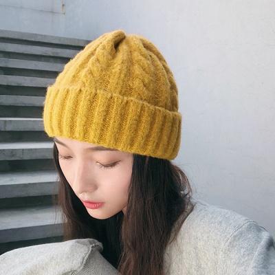 겨울 니트 모자(옐로우)  가등록(단독2)