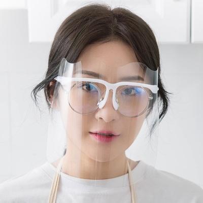 안면보호 안경 페이스 쉴드/안경테1개+필름5개