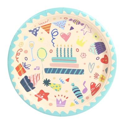 생일 파티접시 18cm (10개입) 아이콘