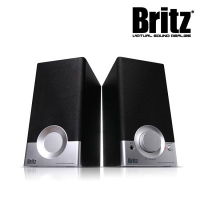 브리츠 스피커 BR-1000A CUVE Black2 (2채널 / MDF 인클로저 / 전면부 컨트롤러)