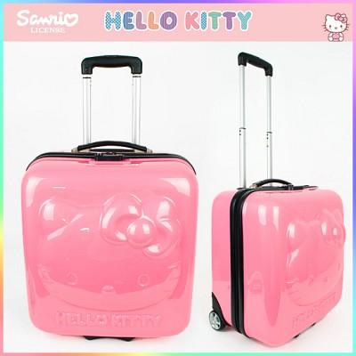 헬로키티 ABS트롤리16.5인치(KTG-MB23P) 아동가방/여행용가방/기내용캐리어/어린이캐리어/선물/여행/해외/팬션/소꿉놀이