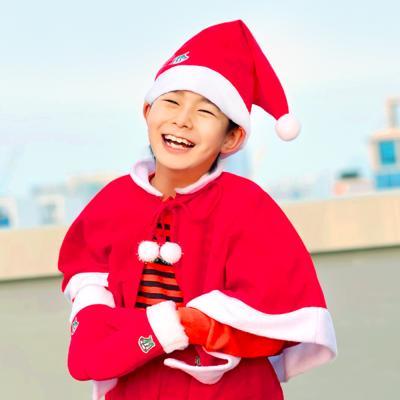 아동 고급형 산타망토 SET (산타 망토 + 산타 모자)